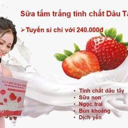 tắm trắng dâu tây sữa tươi giá sỉ