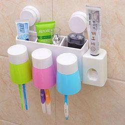 Bộ nhả kem đánh răng tự động kèm 3 cốc giá sỉ
