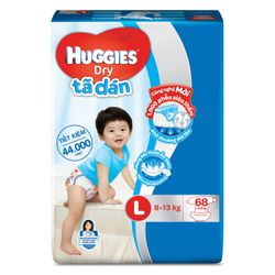 Tã dán huggies L68 giá sỉ