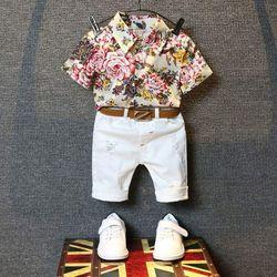 set bộ bé trai hoa lá cành giá sỉ