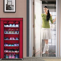 Tủ vải để giày 6 tầng trơn tiện dụng giá sỉ