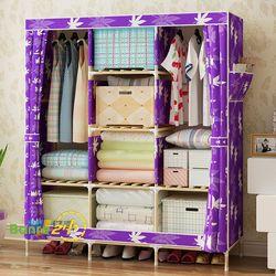 Tủ quần áo 3 buồng 8 ngăn khung gỗ chắc chắn giá sỉ