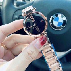 đồng hồ trung cấp 34mm inox đúc nguyên khối giá sỉ, giá bán buôn