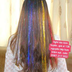light tóc kim tuyến nguyên tép mấy trăm sợi 13k tổng đơn đặt hàng 500k một hoặc nhiều sản phẩm công lại được tính sỉ nhe - giá sỉ