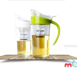 Bình chai lọ thủy tinh nắp nhựa Oil Can đựng dầu ăn giấm nước tương nước mắm dung dịch dung tích 620mlHK003 xanh lá giá sỉ