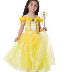Đầm hoá trang công chúa Belle cho bé gái giá sỉ