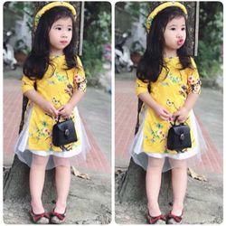 Áo dài cách tân cho bé gái giá sỉ