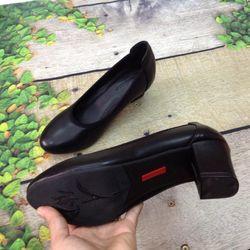 Giày cao gót mũi bầu trơn viền chun giá sỉ