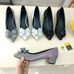 Giày cao gót nơ phồng 5 cánh giá sỉ