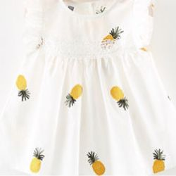 Váy thêu hoạ tiết cho bé gái giá sỉ