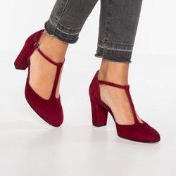 Giày sandal cao gót bít mũi tròn nối cổ chân giá sỉ