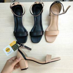 Giày sandal cao gót hậu viền phối màu giá sỉ