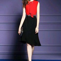Đầm Body Màu Đỏ Kèm Phụ Kiên giá sỉ