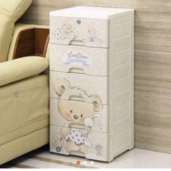 Tủ nhựa 5 ngăn để quần áo trẻ em GẤU giá sỉ