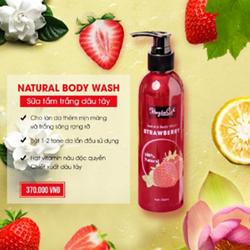 NATURAL BODY WASH - SỮA XÔNG TRẮNG TINH CHẤT DÂU TÂY