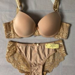 Bộ đồ lót nữ vic trơn ren mút vừa nâng ngực cực đẹp