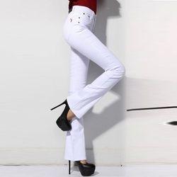 Quần jean lưng cao ống loe cực kỳ quý phái 100 giá sỉ