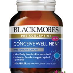 Blackmores Conceive Well Men 28 Capsules - Viên uống tăng cường khả năng sinh sản cho nam giới giá sỉ