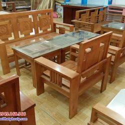 Bàn ghế phòng khách gỗ Bích mẫu SLB071 giá sỉ
