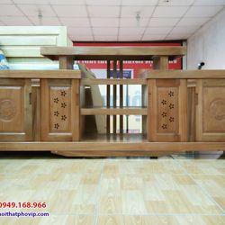 Kệ tivi gỗ Xoan 2m mẫu KTVX565 giá sỉ