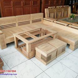 Bàn ghế phòng khách gỗ Sồi mẫu SLS678 giá sỉ