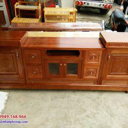 Kệ tivi gỗ Xoan 2m mẫu KTVX563 giá sỉ