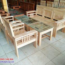 Bàn ghế phòng khách gỗ Sồi mẫu SLS677 giá sỉ