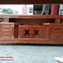Kệ tivi gỗ Xoan 2m mẫu KTVX558 giá sỉ