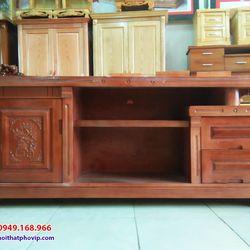 Kệ tivi gỗ Xoan 1m6 mẫu KTVX571 giá sỉ