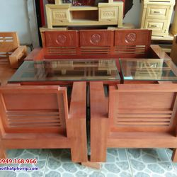 Bàn ghế phòng khách gỗ Còng mẫu SLC085 giá sỉ