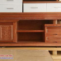 Kệ tivi gỗ Xoan 1m6 mẫu KTVX500 giá sỉ