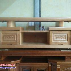 Kệ tivi gỗ Sồi 1m4 mẫu KTVS574 giá sỉ