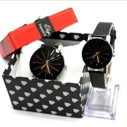 Đồng hồ thời trang QUART đồng hồ thạch anh dây da đôi nam nữ