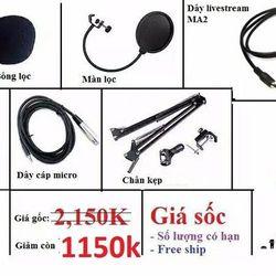 Trọn bộ thu âm Sound card XOX K10 Micro BM 800 Đầy đủ phụ kiện giá sỉ
