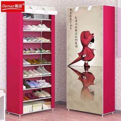 Tủ giày 10 tầng Tủ vải để giày 3D 10 tầng giá sỉ