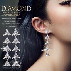 Bông tai NỮ đá zircon bạc 925 AB5383 giá sỉ