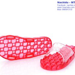 Dép massage chân đi trong nhà màu Đỏ Nachidu - MT9 giá sỉ