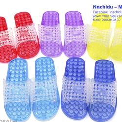 Dép massage chân đi trong nhà màu Xanh đỏ Nachidu - MT5 giá sỉ