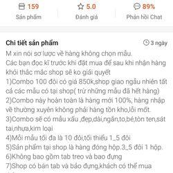 Combo 100 đôi bông tai Thái không chọn mẫu giá sỉ