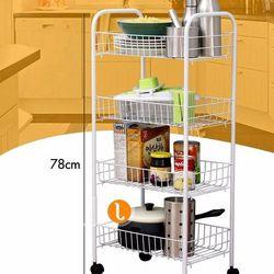 Kệ sắt để đồ nhà bếp 4 tầng đa năng có bánh xe giá sỉ
