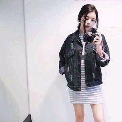 Áo khoát jean nữ ms06 giá sỉ