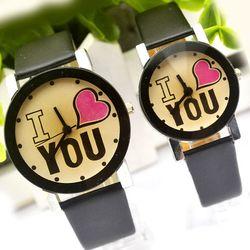 Đồng hồ đôi mặt vàng I LOVE YOU giá sỉ