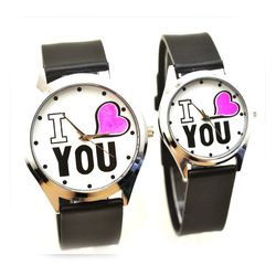 Đồng hồ đôi mặt trắng I LOVE YOU giá sỉ