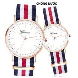 Đồng hồ đôi dây sọc mặt trắng giá sỉ