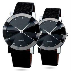 Đồng hồ đôi mặt đen 0618A giá sỉ