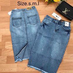 Váy jean dài 120k NY3105 giá sỉ
