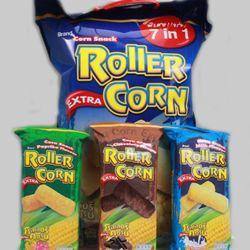 bánh snack bắp 3 vị ROLLER CORN 455gr Thái 1 thùng 5 gói hàng luôn luôn có