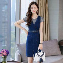 Đầm Jean Kem Ao Trong giá sỉ