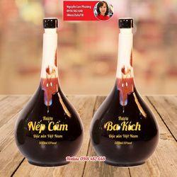 nậm rượu gốm Bát Tràng in logo giá sỉ