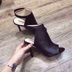 Giày boot gót nhọn hở mũi giá sỉ